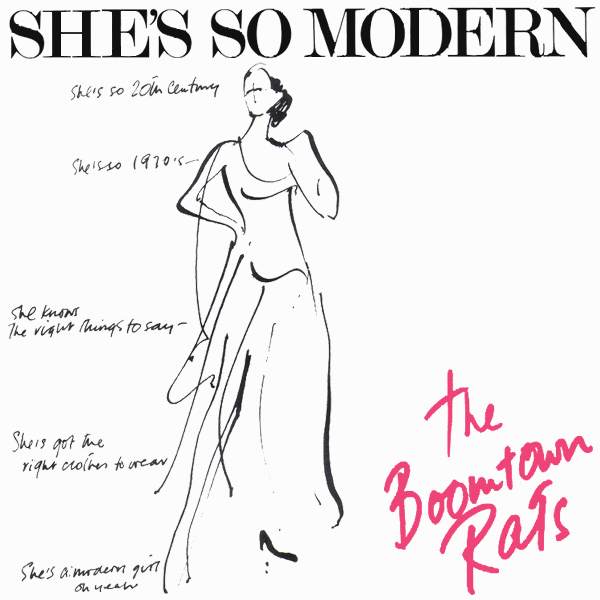 Original Cover Artwork of Boomtown Rats Shes So Modern