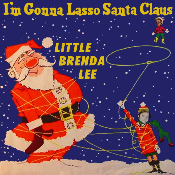 Original Cover Artwork of Brenda Lee Lasso Santa