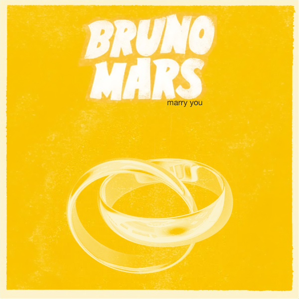 Original Cover Artwork of Bruno Mars Marry You