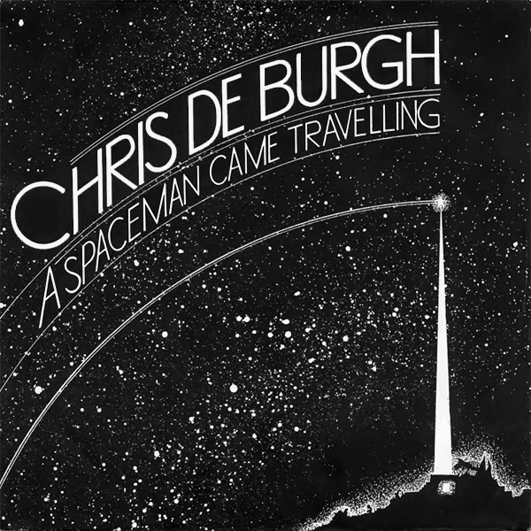 Original Cover Artwork of Chris De Burgh Spaceman Came Travelling