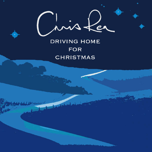 Original Cover Artwork of Chris Rea Driving Home For Christmas