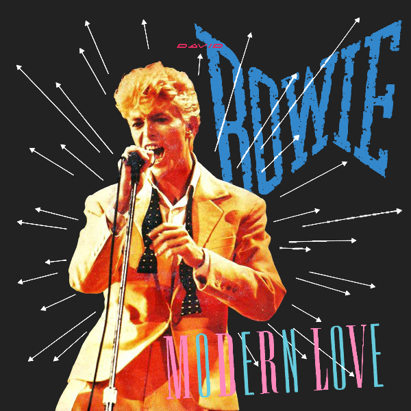 Original Cover Artwork of David Bowie Modern Love
