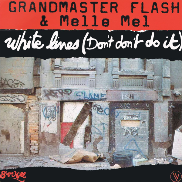 Original Cover Artwork of Grandmaster Flash And Melle White Lines