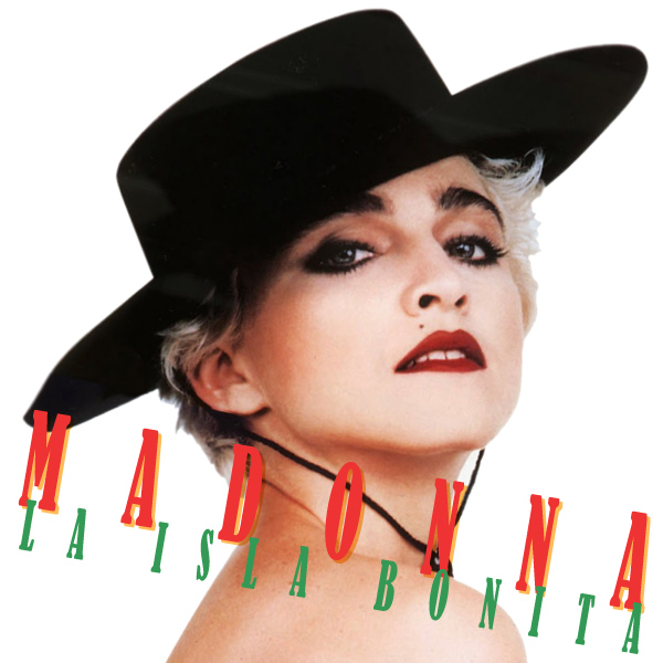 Original Cover Artwork of Madonna La Isla Bonita