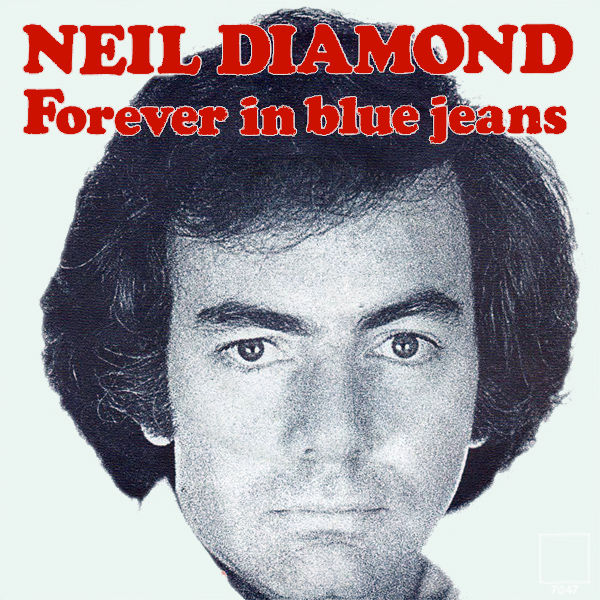 Original Cover Artwork of Neil Diamond Blue Jeans