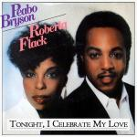 Original Cover Artwork of Peabo Bryson Roberta Flack Tonight I Celebrate My Love