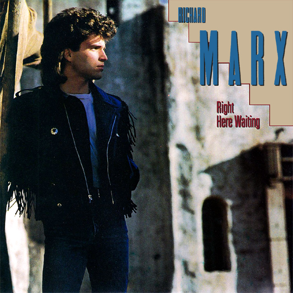 Original Cover Artwork of Richard Marx Right Here Waiting