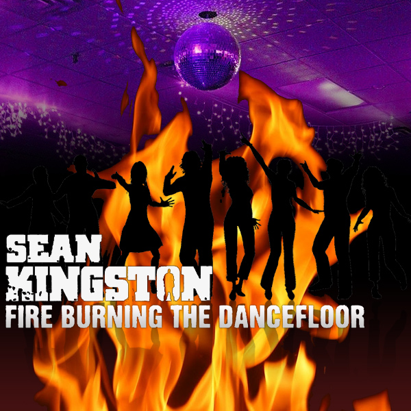 Original Cover Artwork of Sean Kingston Fire Burning
