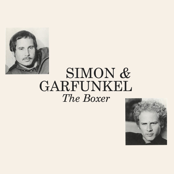 Original Cover Artwork of Simon Garfunkel The Boxer