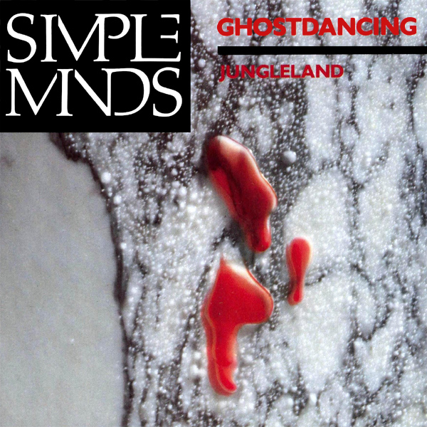 Original Cover Artwork of Simple Minds Ghostdancing