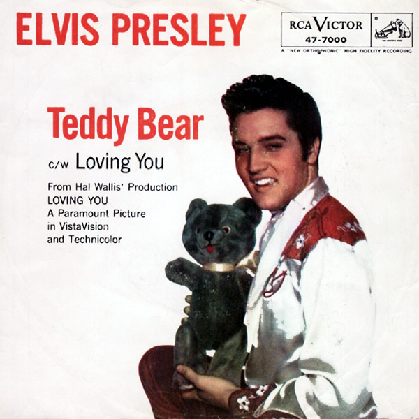 Original Cover Artwork of Teddy Bear Elvis Presley