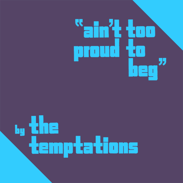 Original Cover Artwork of Temptations Aint Too Proud To Beg